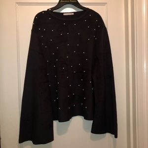 Black and Pearl Zara sweater